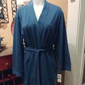 Charter Club blue robe (NWT)